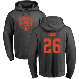 Men's Deon Bush Chicago Bears Pro Line by Ash One Color Pullover Hoodie